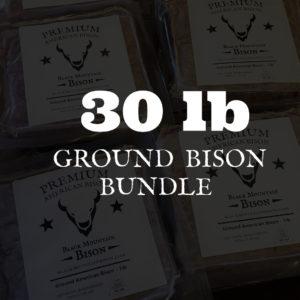 30lb Ground Bison Bundle